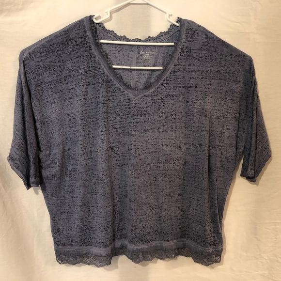 1ea33ecb1ff Lane Bryant Tops | Plus Size 26 28 Blouse Blue Lace 1043 | Poshmark